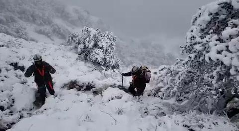 Comitiva presidencial pasó la noche varada en un cerro a temperaturas bajo cero