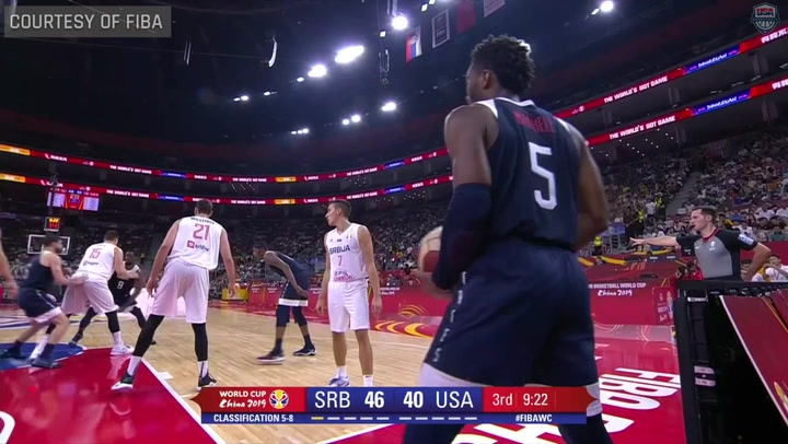 USA Men's World Cup Team vs. Serbia Highlights