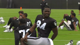 Antonio Brown Practices with Raiders in Alameda – VIDEO