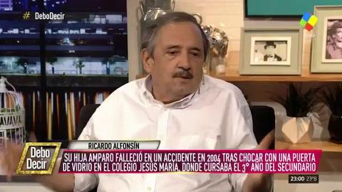 Alfonsín recordó la muerte de su hija: La mochila se acomoda