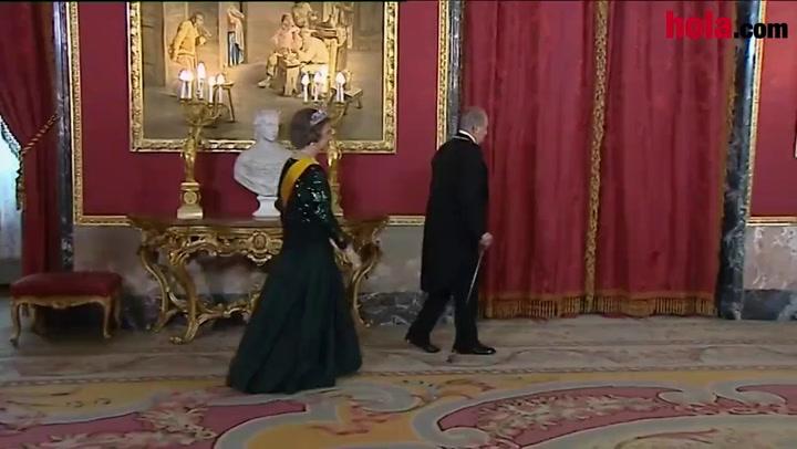 Los Reyes y los Príncipes, anfitriones de la cena de gala al Presidente de México