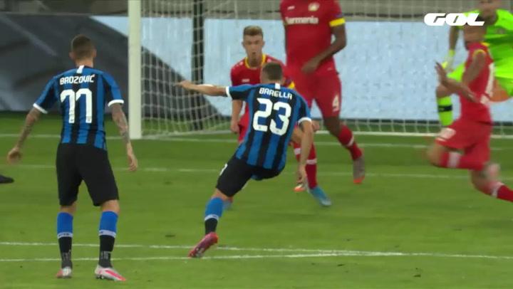Europa League Inter de Milán-Bayer Leverkusen. Gol de Barella (1-0)