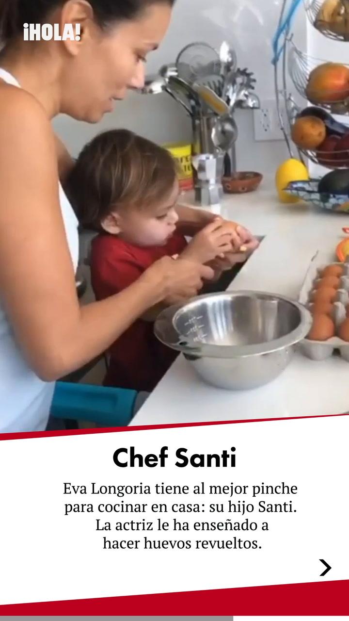 Huevos revueltos by Santi, el mejor pinche de cocina de Eva Longoria