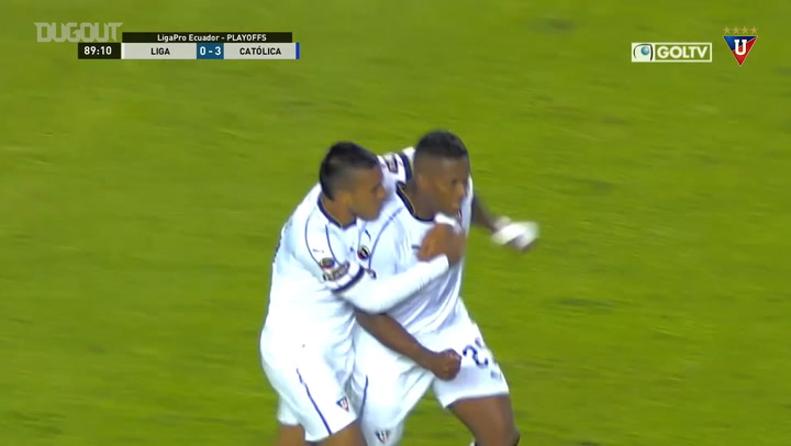 Antonio Valencia's first goal for Liga de Quito