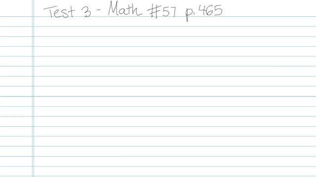 Test 3 - Math - Question 57