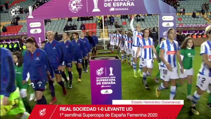 Resumen del Real Sociedad - Levante (1-0), Semifinal de la Supercopa de España Femenina