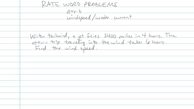 Rate Word Problems - Problem 4