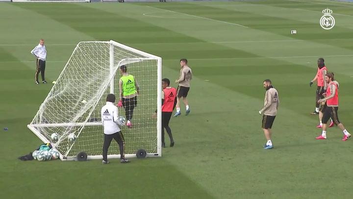 Última sesión del Real Madrid antes de visitar al Betis