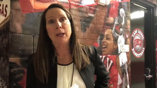 Kathy Olivier talks about the win over Air Force