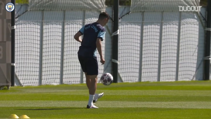 Man City put in final preparations ahead of Lyon