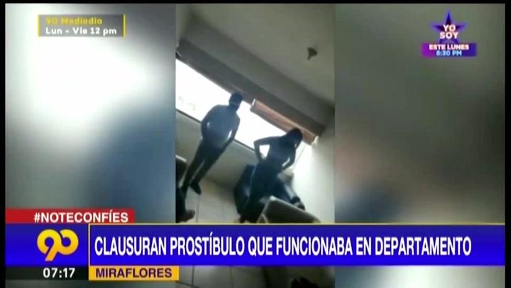 Miraflores: clausuran prostíbulo clandestino que funcionaba en departamento