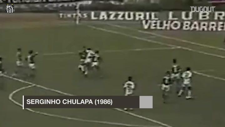 Los mejores goles de chilena del Santos