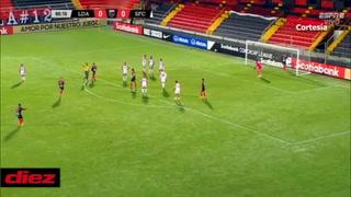 ¡Sufrido! Alajuelense vence por la mínima a San Francisco y avanza a cuarto de final de Liga Concacaf