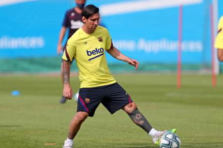 A 10 días del retorno: Lionel Messi se entrena al margen de la plantilla del Barcelona
