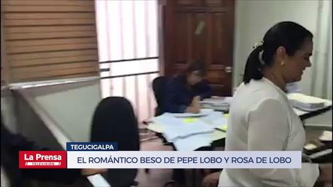 El Romántico beso entre Pepe Lobo y Rosa de Lobo
