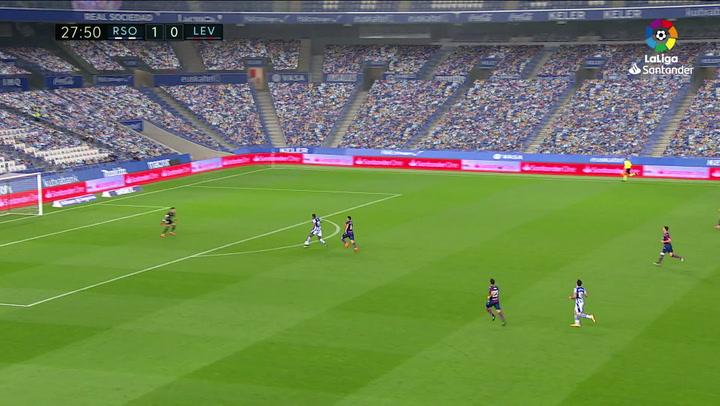 Partidazo de Dani Cárdenas: evitó hasta seis goles de la Real Sociedad