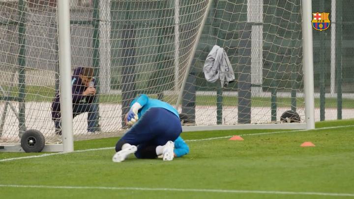 Cillessen se prepara a conciencia para la final de Copa