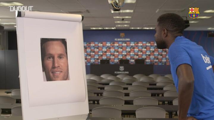 Barça Faces Challenge - Samuel Umtiti