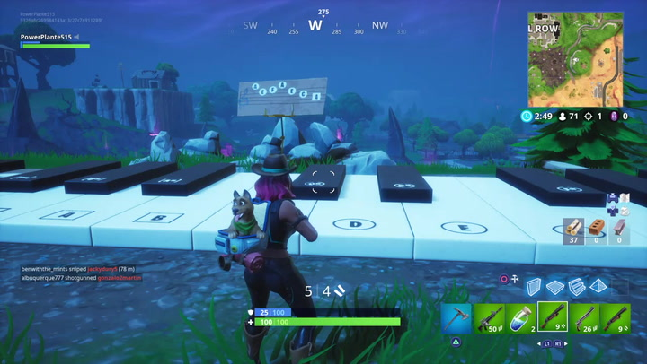 fortnite sheet music location in pleasant park retail row map and video inverse - piano keys fortnite