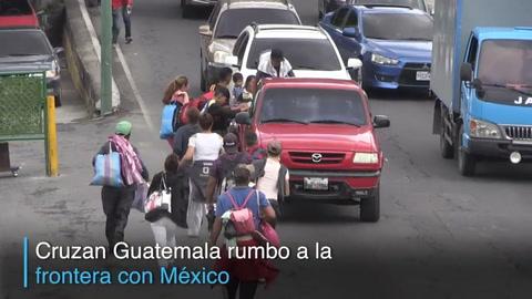 Migrantes hondureños avanzan pese a amenazas de Trump