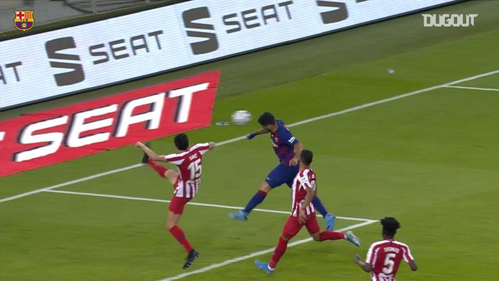 Griezmann's Supercopa goal vs Atletico Madrid