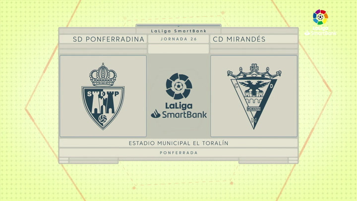 LaLiga SmartBank (J26): Resumen y gol del Ponferradina 1-0 Mirandés