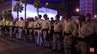 Protest on Las Vegas Strip turns into confrontation
