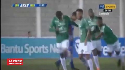 Carlos Discua anota el 0-1 (Marathón) ante UPN