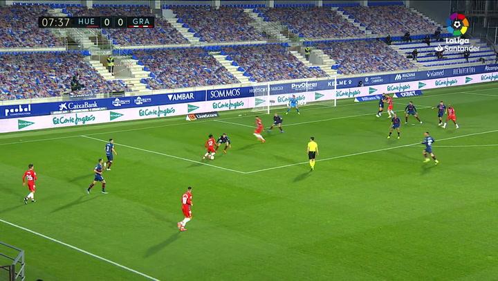 Gol de Domingos Quina (0-1) en el Huesca 3-2 Granada