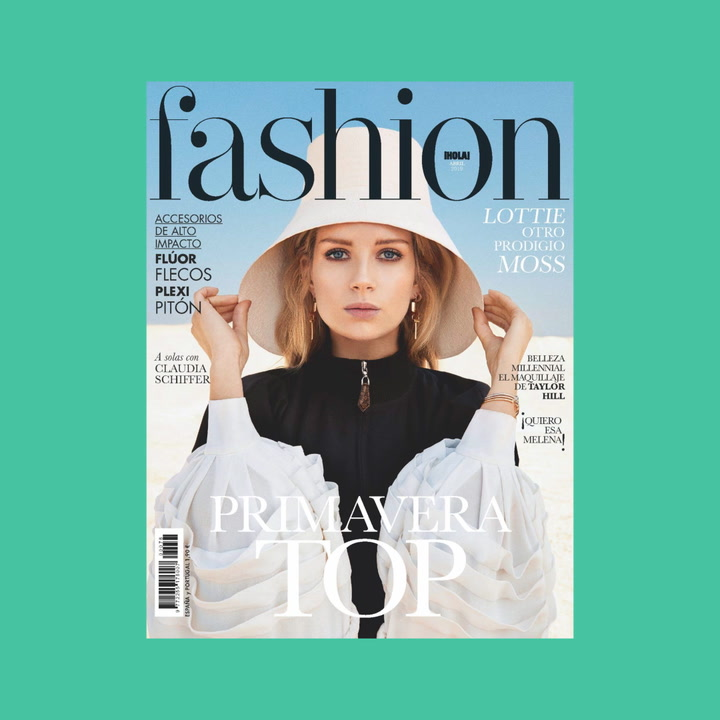 Lottie Moss recibe la primavera en la portada de Fashion abril