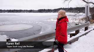 Nokasippi River Rotating Ice Circle