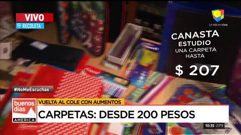 La Canasta Escolar creció casi un 24%
