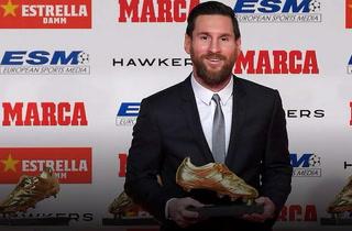 Messi recibe su quinta Bota de Oro y se despega de Cristiano Ronaldo