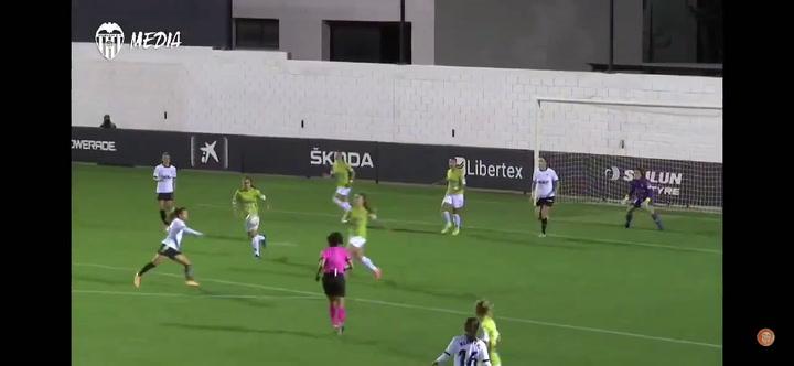Un gol de Candela Andújar con el Valencia