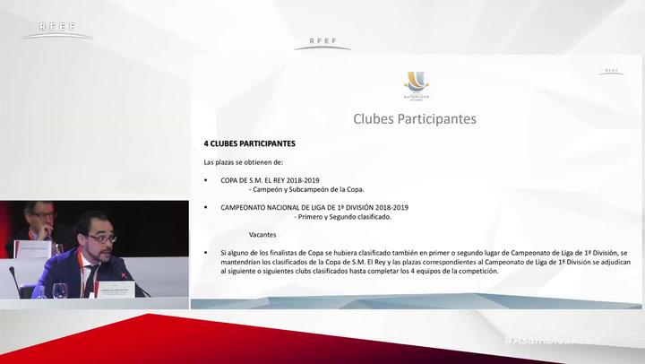 Alfredo Olivares explica el nuevo formato de la Supercopa