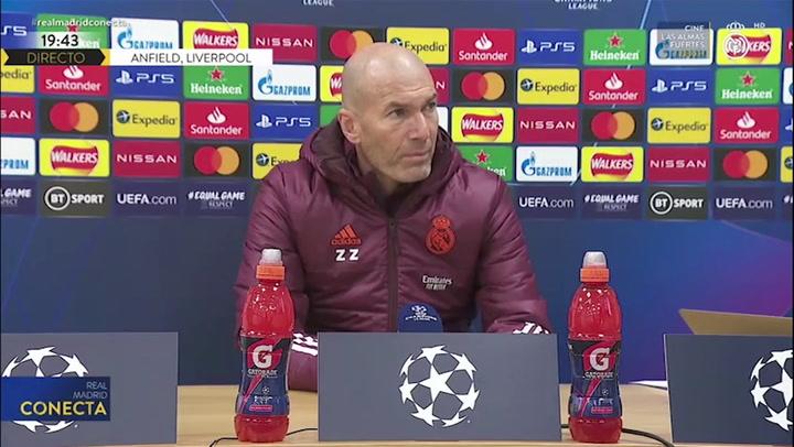"Zidane: ""No vamos a gestionar esfuerzos, intentaremos salir a ganar"""