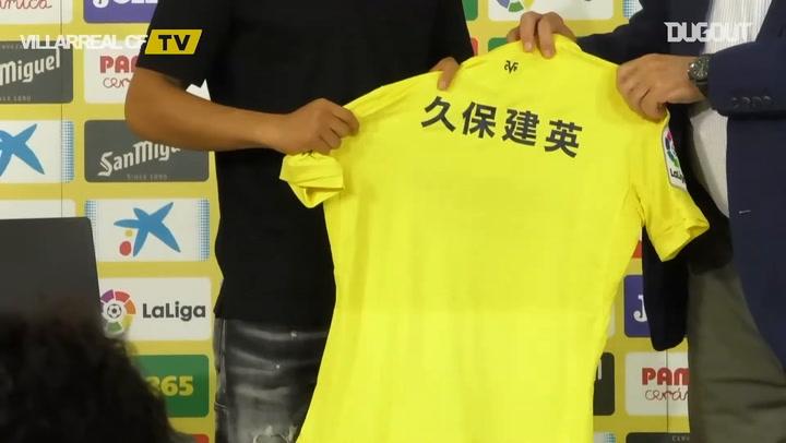 Take Kubo unveiled as new Villarreal player