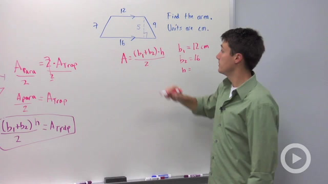 Area of Trapezoids - Problem 2