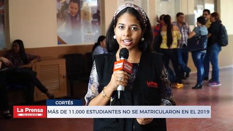 Más de 11,000 estudiantes hondureños no se matricularon en 2019 en Cortés