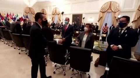 Bukele citó a embajadores en El Salvador para reclamarles por condena a su país