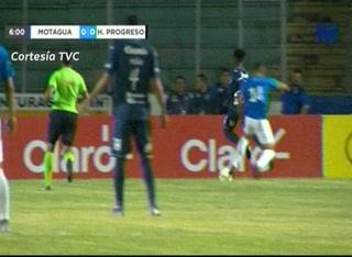 Roberto Moreira anota el 1 - 0 de Motagua ante Honduras Progreso