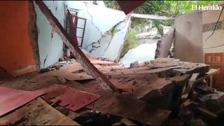 Derrumbes por lluvias amenazan varias viviendas en El Reparto