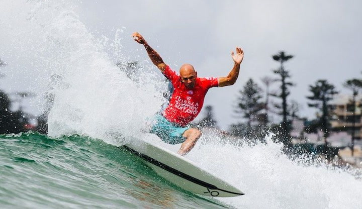 The 11-time world champion is looking to make a serious run at qualifying for the Olympics this year. Footage courtesy of the WSL.