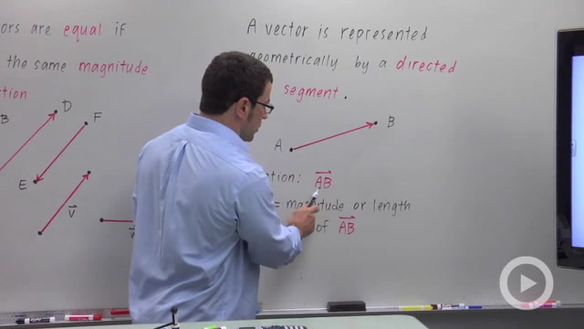 The Geometric Representation of Vectors