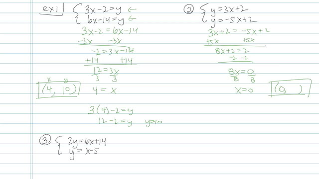 Solving Systems of Equations using Substitution - Problem 4