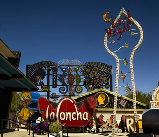 "Tim Burton's new exhibition, ""Lost Vegas,"" at The Neon Museum"