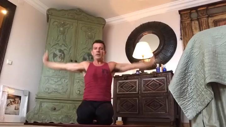 El entrenamiento de Antonio Banderas