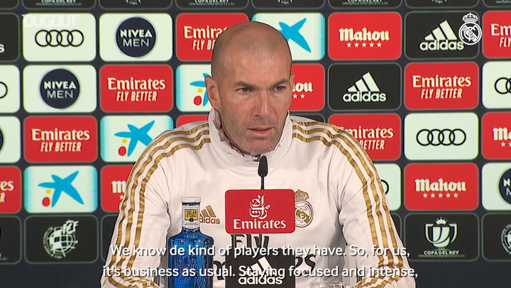 Zidane: 'It's a tough game that we're approaching with focus and intensity'