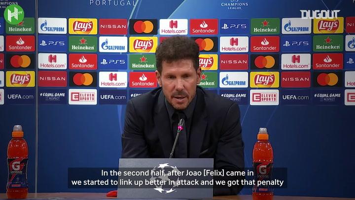 "Diego Simeone: ""RB Leipzig were the better team"""