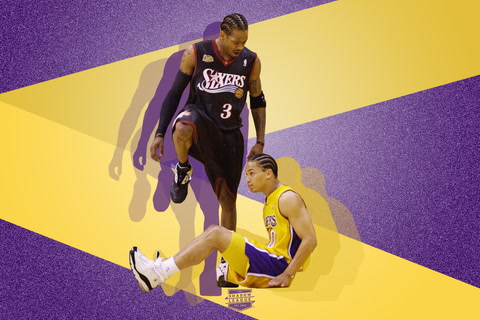 NBA Finals Iconic Moments  Allen Iverson Steps All Over Tyronn Lue ... 0a26dcc08